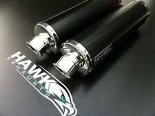 Honda VTR 1000 SP1 Pair of Black Round Exhaust Cans, Silencers. Road Legal