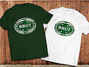 Retro Brut Aftershave T-Shirt, 80's, 70's Vintage Mens Grooming