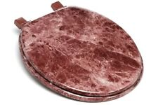 Wood Toilet Seat Round Decorative Burgundy Marble Colored Lid Best Wooden Bath