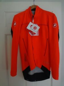 NEW Castelli Perfetto Long Sleeve men's cycling Jersey Orange L