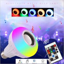 Altavoz Inalámbrico Bluetooth Bombilla de luz LED 12 W Rgb Inteligente música Play Lámpara + Control Remoto