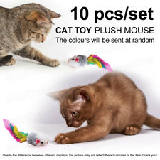 Pet cat toy mouse shaped Plush mouse feather tail Funny Playing Toys For Kitten