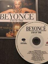 """BEYONCÉ """"END OF TIME"""" RARE BRAZILIAN 11 REMIX CD PROMO"""