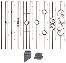 SOLID - Satin Black - Modern Series Iron Balusters - Wrought Iron - Stair Parts