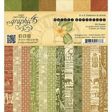 Graphic 45 Safari Abenteuer 6x6 Muster & Solid Paper Pad 36pc Mixed Media