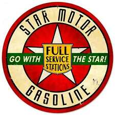 Star Motor Gasoline round metal sign  360mm diameter   (pst rnd)