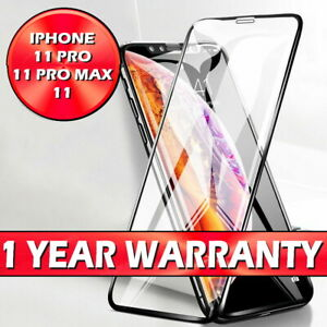 Screen Protector for New iPhone 11,11 PRO MAX Curved Full Cover Tempered Glass