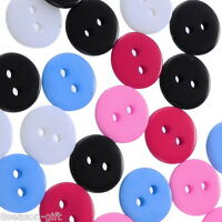 "500PCs Mixed Round 2 Holes Resin Sewing Buttons Scrapbooking 11mm(3/8"")"