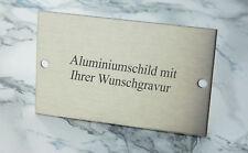 TÜRSCHILD Aluminium in Edelstahl-Look - 100x60mm rechteckig- mit WUNSCHGRAVUR