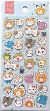 Love Cute Animal Sticker Calico Cat Kitty Kitten Face Kids Girl Scrapbook JAPAN