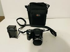 Canon PowerShot SX510HS Digital Point and Shoot 12.1mp camera with Wi-Fi W/Case