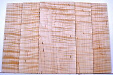 Guitar Luthier CURLY TIGER FLAME MAPLE Head Plate Grade AAAAA Inlay Wood 1/8""