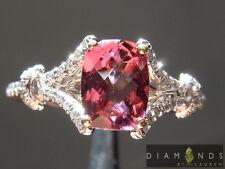 .91ct Pink Cushion Cut Tourmaline and Diamond Ring R6337 Diamonds by Lauren
