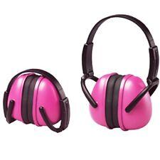 Pink Ear Muffs Hearing Protection Folding & Adjustable Work/Racing/Hunting/Shoot