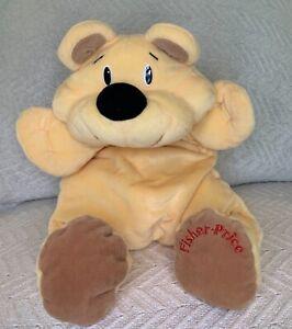 "1993 Fisher Price Rumple Bear Honey Floppy Yellow Plush Black Nose 18"""