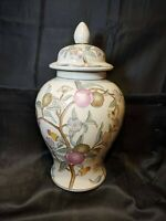 LARGE WBI GINGER JAR, VASE, URN W/LID D27 15 Inches. ~ CHERRY BLOSSOM ~ CHINA