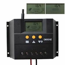 50A Solar Regulator Charge Controller 12V / 24V Auto 1200W Solar Panel CM5024Z