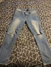 Asos Skinny Jeans 33 Waist 30 Leg BNWOT Ripped Knees