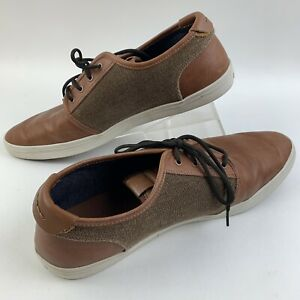 Aldo Mens Two Tone Lace Up Faux Leather Casual Dress Sneaker Shoes Size 12