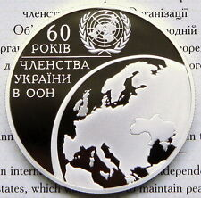 Ukraine 10 UAH 2005 PROOF 1 OZ Silver COA United Nations Organization UN