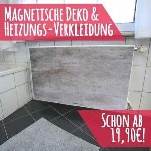 Magnet Heizkörperverkleidung Heizkörperabdeckung Heizung Schutz Motiv Beton-Wand