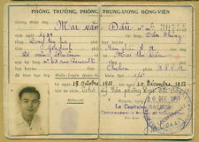 State of Vietnam Military ID Card 1951