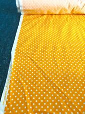 RJR Cotton Fabric Crazy for Dots & Stripes Orange Dot Sold by the yard