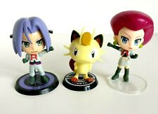 Pokemon Team Rocket Jessie James Meowth Banpresto Prize Lottery Figure Set Rare