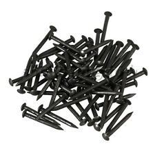 50 Pieces Round Head Black Antique Pure Copper Wood Screw Nail Decor Furniture