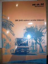 Prospekt Sales Brochure MAN M.A.N. SR 240 Reise-Fern-Nahverkehr Bus Ausstattung
