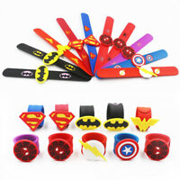 Silicone Superhero Spiderman Slap Bracelet Flash Wristband Bracelet For Kids