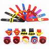 Silicone Superhero Spiderman Slap Bracelet Flash Wristband Bracelet For Kids