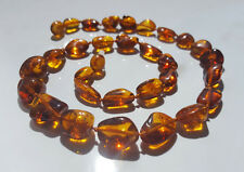 Genuine Cognac Beautiful Baltic Amber Necklace 14 g. !!!