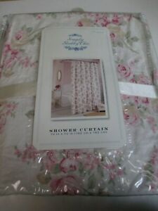 Rachel Ashwell Simply Shabby Chic BLUSH BEAUTY Pink Roses Floral Shower Curtain