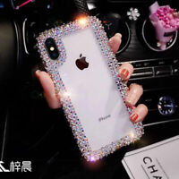 Bling Diamond Clear Luxry Soft Case Cover For iPhone 6 7 8 Plus X XR XS MAX