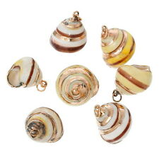 5PCs NEW Shell Charm Pendants Conch Natural Rose Gold