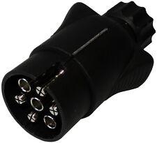 Fiche mâle 7pin prise connecteur de remorque 7 broches 12V 7mm C12377 attelage