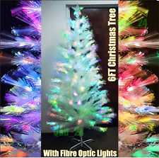 christmas tree 3ft pre lit fibre optic led with lights white xmas table office