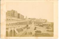 Algérie, Alger, Boulevard de la République  Vintage albumen print Tirage album