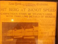TITANIC (5) NY CHILLING NEWSPAPERS~APRIL 15,16,17,18,19,1912~LIBRARY OF CONGRESS