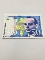 BANQUE DE FRANCE 50 CINQUANTE FRANCS BANKNOTE 1997