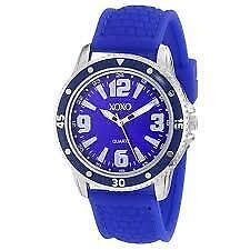 XOXO Women's XO8071 Blue Analog Silicone Strap Watch