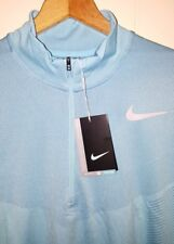 Nike Golf Flyknit 1/2 Zip Long Sleeve Pullover Mens XL NWT $120.00 Sky Blue