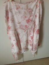 George Chiffon Skirt Size 14 White Pink Floral