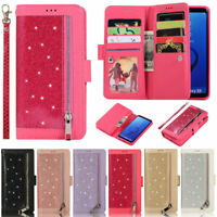 Glitter Wallet Leather Flip Cover Case For Samsung A51 A71 A21s S21 S20 S10 Plus