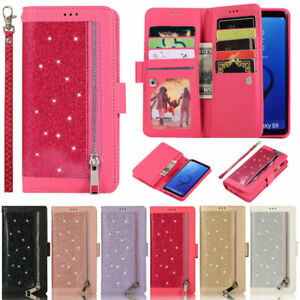 Glitter Wallet Leather Flip Cover Case For Samsung A52 A72 A51 A12 A21S S21 S20