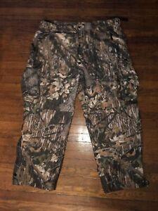 Scent Lok Brown Camo Cargo Adjustable Waist Hunting Pants Size XXL 2XL