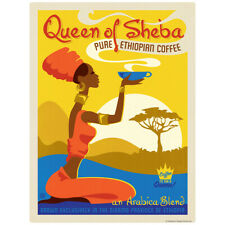 Queen of Sheba Coffee Decal 26 x 34 Peel and Stick Kitchen Decor