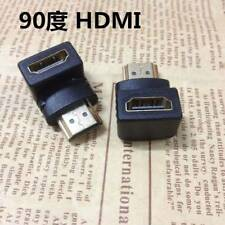 Black HDMI Male to Female Connector Gold Plated Right Angle HDMI Adapter