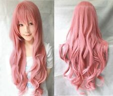 """New 40"""" Vocaloid Megurine Luka Cosplay Party Wigs Long Curly Wigs Pink"""